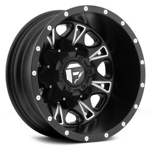 17 Inch Black Wheels Rims Chevy Silverado 3500 Dually Fuel Throttle D513 8x6 5 4