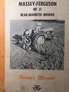 Massey Ferguson Mf 31 Rear Mounted 3 point Tractor Sickle Mower Owners Manual 62