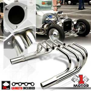 Ss Exhaust Header Manifold For Ford Sprint T Bucket Hot Street Rods V8 Windsor