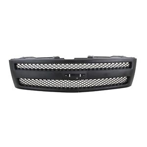 Grille For 2007 2013 Chevrolet Silverado 1500 Textured Black Plastic