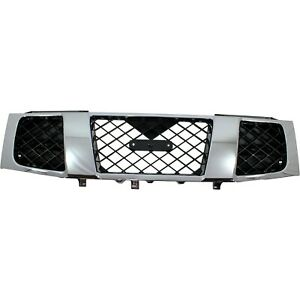 Grille For 2004 2007 Nissan Titan 2005 2007 Armada Chrome Shell W Black Insert