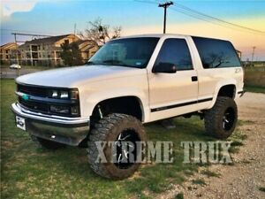 Paintable Black 95 99 Chevy Tahoe Yukon Rugged Extension Fender Flares Bolt On