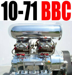 Big Block Chevy Low Deck Blower Shop Supercharger 10 71 Polished 2v Package