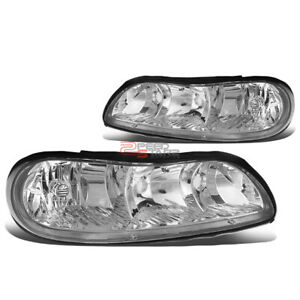 For Chevy Malibu Classic Left Right Chrome Housing Clear Corner Headlights Pair