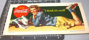 vintage 1942 Coca Cola ink blotter  I think its swell  great retro graphics!