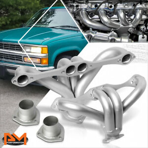 For Small Block Hugger 283 305 327 350 400 Racing Exhaust Header Manifold Silver