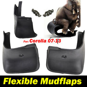 4pcs Mud Flaps For Toyota Corolla Altis 2007 2013 Splash Guards Mudguards Fender
