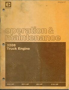 Caterpillar 3208 Engine Operation And Maintenance Manual Oem