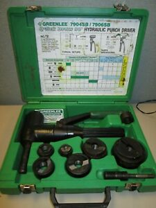 Greenlee 7906sb Hydraulic Punch Driver Kit Quick Draw 90