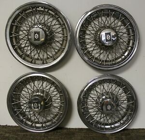 Oem 15 Wire Type Hub Caps Wheel Covers 22511787 1981 85 Oldsmobile 88 98 W157