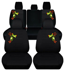 Custom Fit Front Rear Car Seat Covers Black W Frog Fits Jeep Renegade 2015 2019