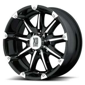 4 18 Inch Black Rims Wheels Lifted Chevy Silverado 1500 Truck Gmc Sierra 6 Lug
