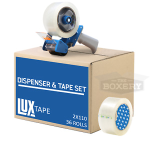 Tape Dispenser Combo 36 Rolls Clear 2 x110yds Packing Tape With 2 Dispenser