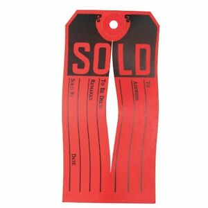 Avery Sold Tag 500 box Red Black ave15161