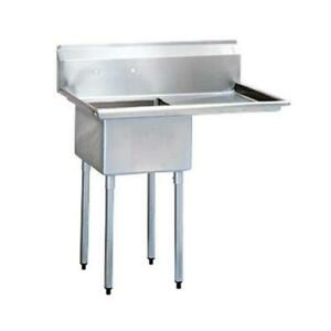 Turbo Air Tsb 1 r2 50 In One Compartment Sink W 24 In Right Drainboard
