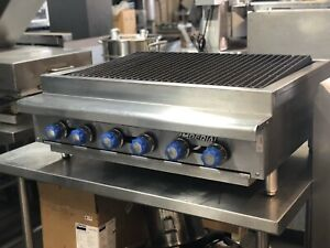 Imperial Irb 36 Charbroiler Gas Countertop Restaurant Bakery Equipment Grill