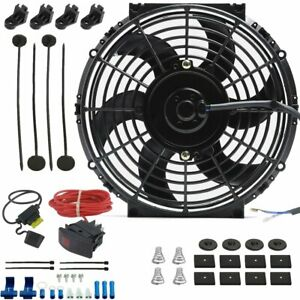 10 Inch Electric Radiator Cooling Fan 12 Volt Manual Toggle Switch Control Kit