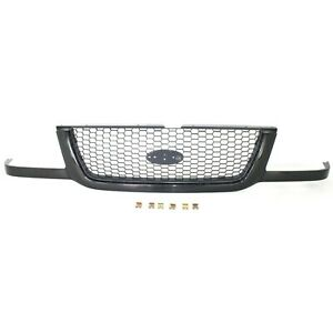 For 2001 2003 Ford Ranger Grille Black W argent Mesh Insert