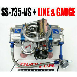 Quick Fuel Ss 735 Vs 735 Cfm Gas Vacuum With Choke Blue Line And Gauge