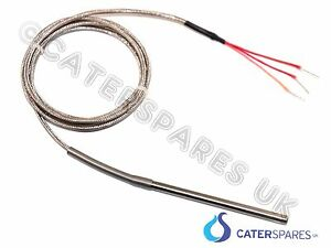 Pt100 3 Wire Thermocouple Probe 1500mm Long For Pizza Oven Digital Lcd Control