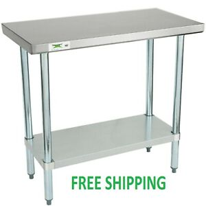 18 X 36 Stainless Steel Work Prep Shelf Table Commercial Restaurant 18 Gauge 5