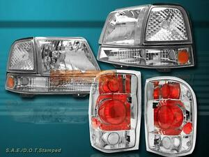 1998 1999 2000 Ford Ranger Clear Headlights Clear Signal Lights Tail Lights