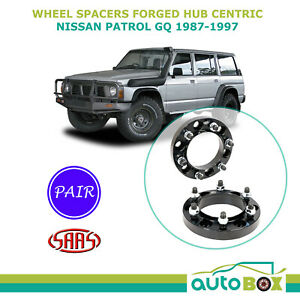 Saas Wheel Spacer 25mm 6 Stud 139 7 Pair Hub Centric For Nissan Gq Patrol 87 97