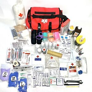 Horse Fist Aid Kit 160 Items pics First Aid Book Videos Veterinary Supplies