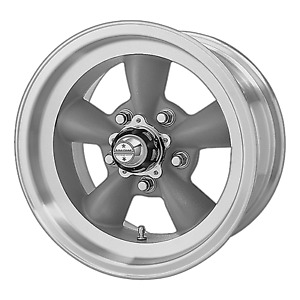 4 American Racing Vn105 15x4 5 5x4 75 15mm Gray machined Wheels Rims 15 Inch