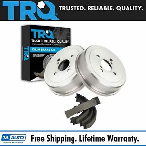 Trq Rear Brake Drum Shoe Pair Set New For Toyota Corolla Chevy Prizm