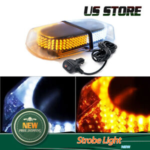 240 Led Emergency Warning Strobe Light Flash Roof Top Snow Plow Amber White Lamp