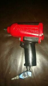 Snap on Mg725 Air Pneumatic 1 2 Drive Red Impact Wrench 1200 Ft lb