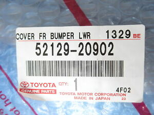 Genuine Oem Toyota 52129 20902 Lower Front Bumper Cover Valance 2000 2002 Celica