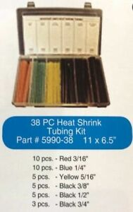 38 Pc Heat Shrink Tubing Kit