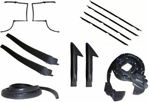 82 92 Camaro Firebird T top Weatherstrip Complete Kit Rubbers Seals Felts