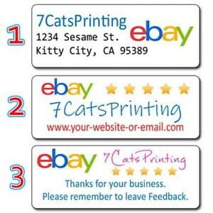 30 For Ebay Return Address Labels Sellers Personalized Thank You Stickers Custom