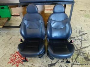 Mini Cooper Convertible Dark Blue Leather Front Seat Pair T6dc 2005 2008 R52 148