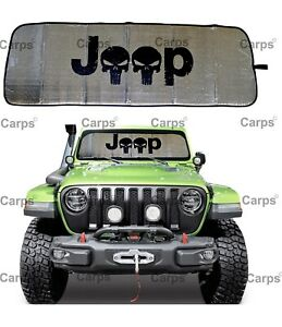 2018 2020 Jl Jlu Jeep Wrangler Windshield Sunshade Visor Mat Jl Accessories