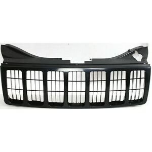 Grille For 2005 2007 Jeep Grand Cherokee Black Plastic