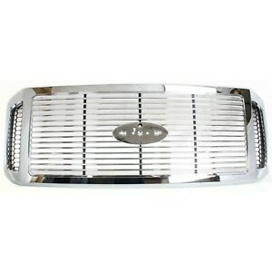 Grille For 2006 2007 Ford F 250 Super Duty F 350 Super Duty Chrome Plastic