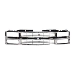 Grille Chrome Chevy C k Truck 94 02 Suburban 94 99 Tahoe 95 00