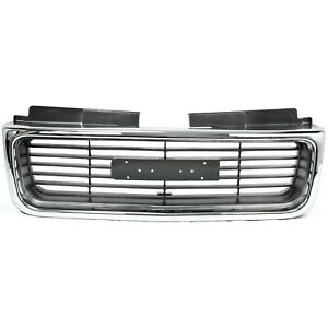 Grille For 98 2004 Gmc Sonoma 98 2001 Jimmy Chrome Shell W Gray Insert Plastic