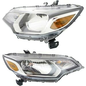 Headlight For 2015 2017 Honda Fit Driver And Passenger Side Pair