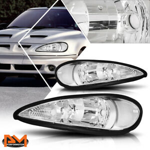 For 99 05 Pontiac Grand Am Headlight Lamps Repalcement Chrome Housing Clear Side