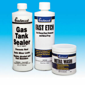 Eastwood Anti Rust Gas Tank Sealer Kits For Cycles With Instructions