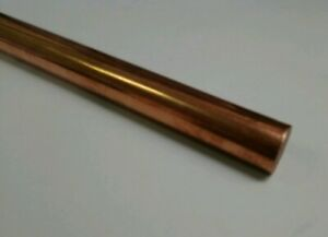 110 H04 Copper 1 Round Rod Stock 8 Long Lathe Machinist Tool New Solid Bar