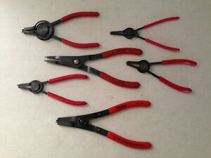 Lot Of 6 Snap Ring Retaining Pliers