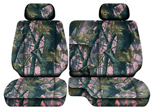 Camo Pink Tree Car Seat Covers Fits 95 00toyota Tacoma Front Bench 60 40 2hr