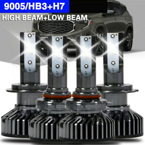 Upgrade 4x Mini 9005 H7 Led Headlight Bulbs For Mazda Protege 5 2003 2002 6000k