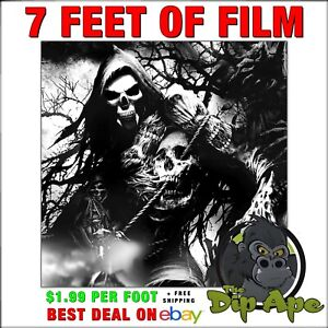 Hydrographic Film Skulls Geepers Reapers 7 X 20 Of Film Hydro Dipping Dip Ape